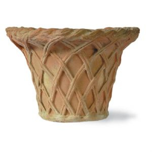 Lattice Fibreglass terracotta Finish Pot From potstore.co.uk